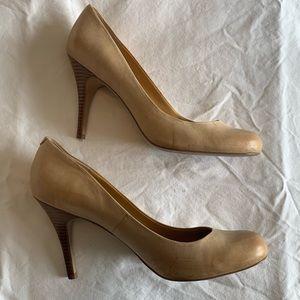 Jessica Simpson tan heels. Size 11